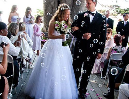 Cañones de confetti y burbujas
